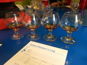 Blind rye whiskey tasting of commercial products and tasting sheets for evaluation