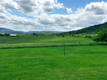 View from on of the vineyards associated with Nimble Hill Vineyard & Winery