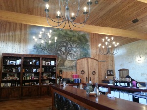 The tasting room at Becker Vineyards, Texas