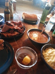 In case you were hungry, a look at the meal at The Salt Lick