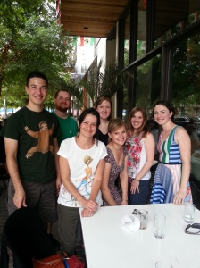 The Penn State group in Austin. From left: Gal, Jared, Michela, Laura, Charlene, Denise, and Marlena