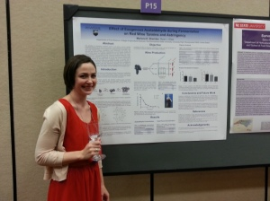 Marlena presenting her research at the ASEV industry-student mixer