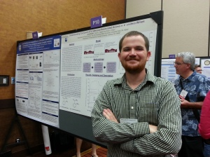 Jared presenting his research at the ASEV industry-student mixer