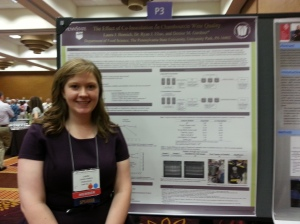 Laura presenting her research at the ASEV industry-student mixer