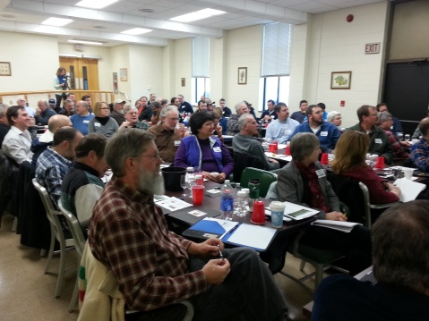 Attendees of the 2015 Hard Cider Production workshop captivated by the lecture series.