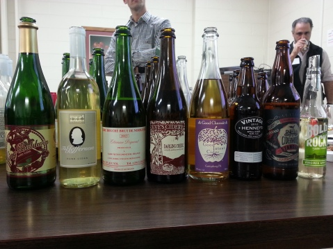 Hard ciders tasted at the 2015 Hard Cider Production workshop.