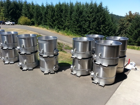 2 - 3 ton fermentors were preferred by most wineries visited in Willamette Valley