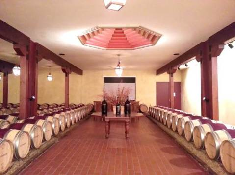 Barrel use is an expensive part of wine production.  This is a barrel room, from Barboursville Vineyards (VA) shows the elegance and love of barrels used for premier winemaking.  Photo by: Denise M. Gardner, Penn State Extension Enologist