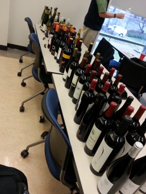 Wines from Around the World Benchmark Tasting. Photo from: Denise Gardner