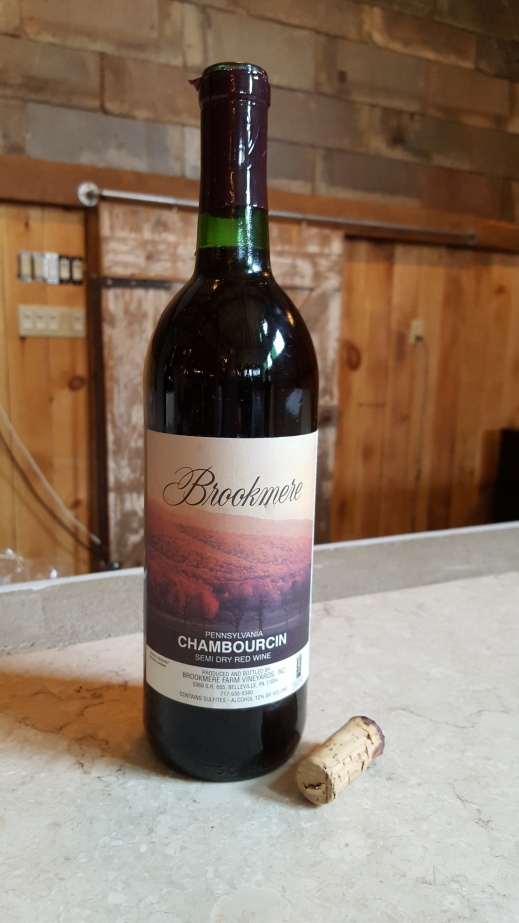 Figure 2: 1998 Chambourcin Produced by Brookmere Winery. Photo by: Denise M. Gardner