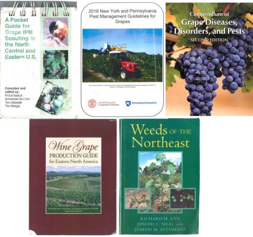 Important viticulture resources for vineyard managers in the Mid-Atlantic region. Photo provided by: Andy Muza