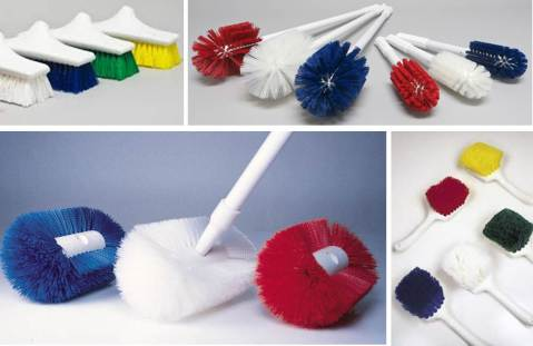 Figure 2: Perfex Brushes that are great for cleaning and minimize bacteria retention.