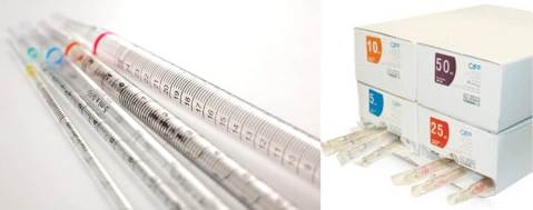 Figure 6: Serological or disposable pipettes are a great way to avoid cross contamination when smaller samples are needed. Photos from BioVentures.