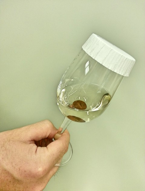 "The ""penny test"" is often used to quickly determine if a wine is suffering from reduction, the presence of several types sulfur-containing off-odors. Photo by: Denise M. Gardner"